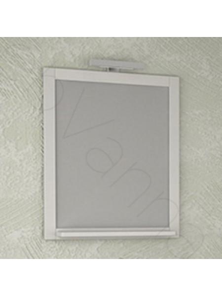 Зеркало Асб Римини 60 см, белое/патина, с подсветкой