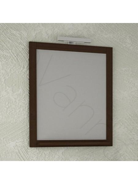 Зеркало Асб Римини Nuovo 60 см, антикварный орех, с подсветкой