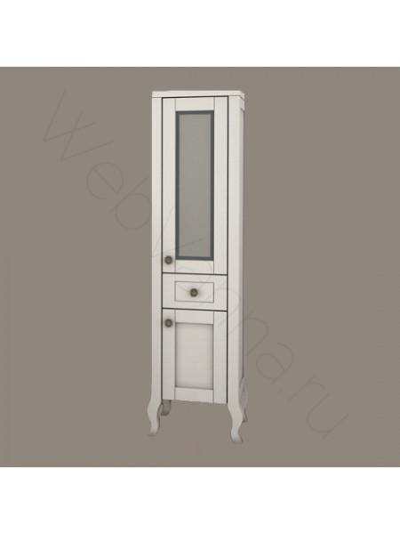 Пенал Асб Флоренция Витраж 30 см, белый/патина