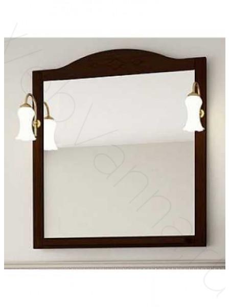 Зеркало Асб Флоренция Витраж 105 см, бук/тироль, с подсветкой