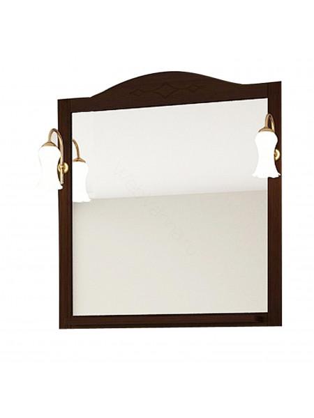 Зеркало Асб Флоренция Квадро 60 см, бук/тироль, с подсветкой