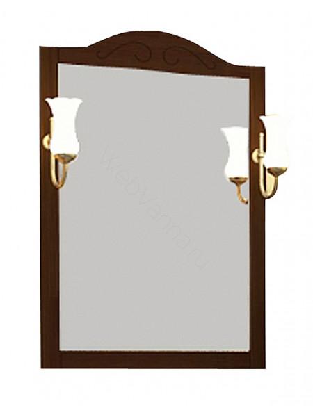 Зеркало Асб Флоренция 65 см, бук/тироль, с подсветкой