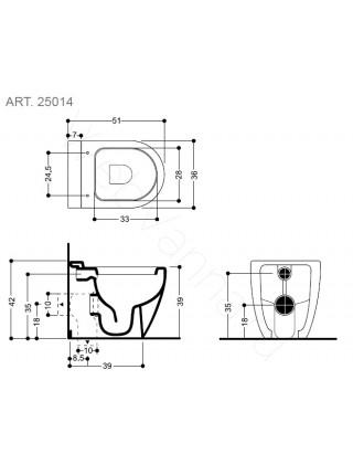 Унитаз приставной Axa Evolution 2501401