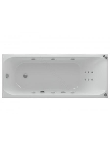 Акриловая ванна Акватек Альфа New 150x70 аэромассаж, пневмоуправление
