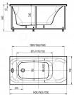 Акриловая ванна Акватек АЛЬФА NEW 150x70