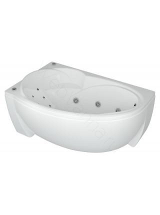 Акриловая ванна Акватек Бетта 150x95 левая, гидромассаж, пневмоуправление