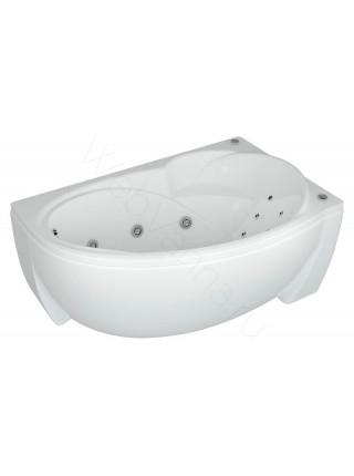 Акриловая ванна Акватек Бетта 150x95 правая, гидромассаж, пневмоуправление