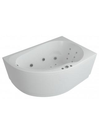 Акриловая ванна Акватек Вирго 150x100 правая, гидромассаж, пневмоуправление