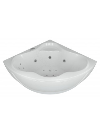 Акриловая ванна Акватек Галатея 135x135 гидромассаж, пневмоуправление