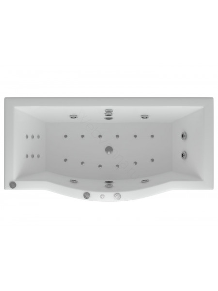 Акриловая ванна Акватек Гелиос 180x90 аэромассаж, пневмоуправление