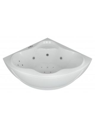 Акриловая ванна Акватек Калипсо 146x146 гидромассаж, пневмоуправление