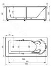 Акриловая ванна Акватек ЛЕДА 170x80