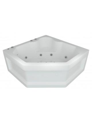 Акриловая ванна Акватек Лира 148x148 гидромассаж, пневмоуправление