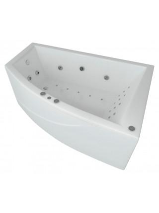 Акриловая ванна Акватек Оракул 180x125 правая, гидромассаж, пневмоуправление