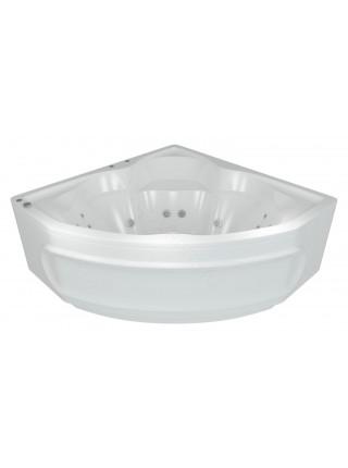 Акриловая ванна Акватек Сириус 164x164 гидро и аэромассаж, пневмоуправление