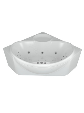 Акриловая ванна Акватек Эпсилон 150x150 гидро и аэромассаж, пневмоуправление