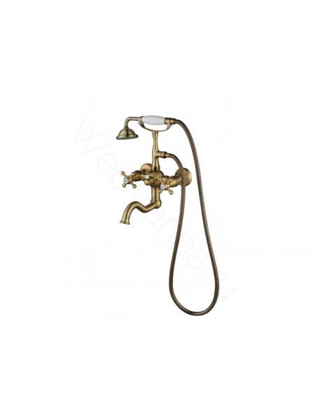 Смеситель для ванны и душа Aksy Bagno Primavera 101 bronze