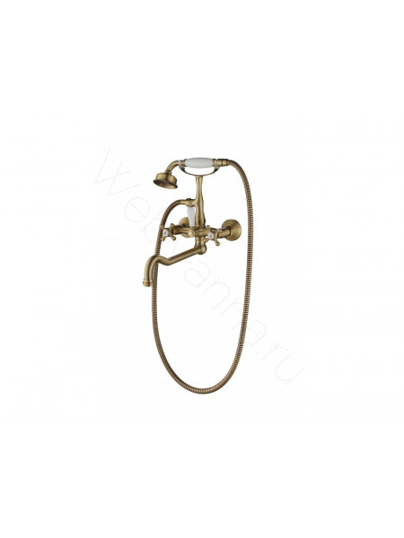 Смеситель для ванны и душа Aksy Bagno Lucia 201 bronze