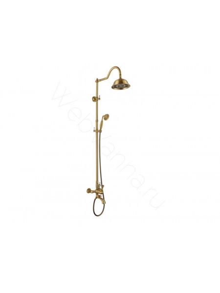 Душевая стойка Aksy Bagno Fa401-2002-2004L bronze, бронза, с изливом