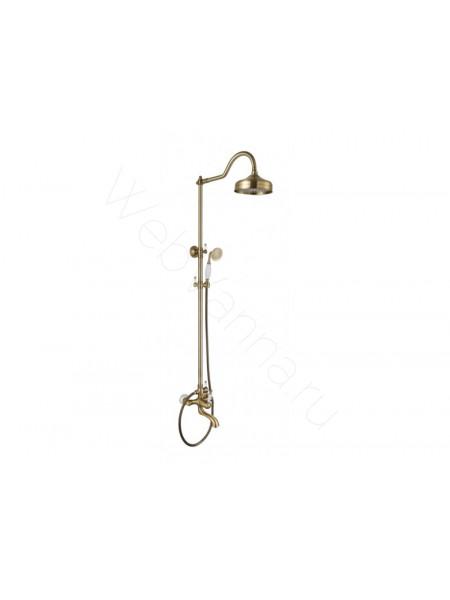 Душевая стойка Aksy Bagno Fa401-2002-2004 bronze, бронза, с изливом