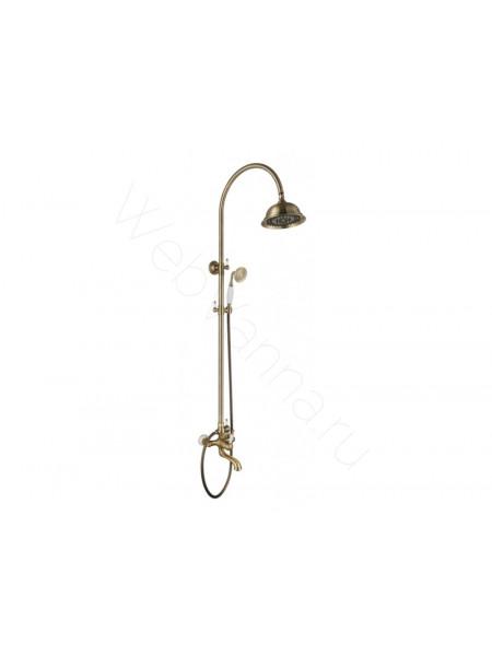 Душевая стойка Aksy Bagno Fa401-2005-2001 bronze, бронза, с изливом
