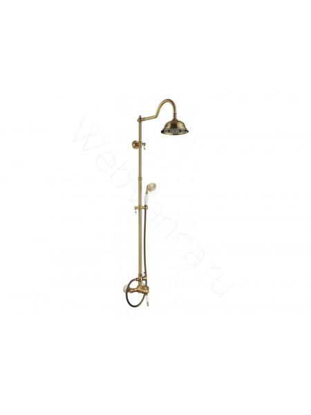 Душевая стойка Aksy Bagno Fa410-2002-2001 bronze, бронза