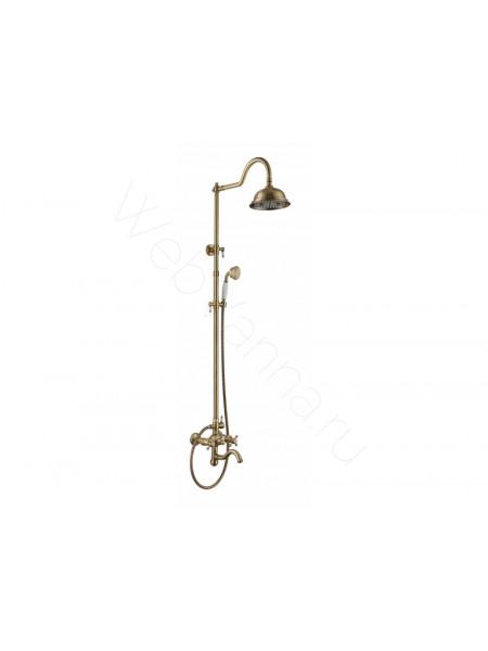Душевая стойка Aksy Bagno Pr-2002-2001 bronze, бронза, с изливом