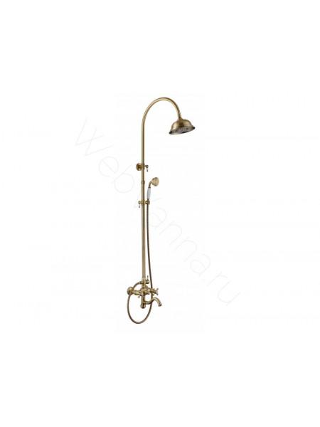 Душевая стойка Aksy Bagno Pr-2005-2001 bronze, бронза, с изливом