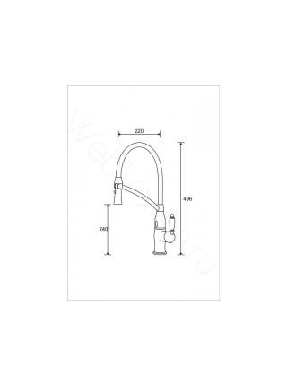 Смеситель для кухни Aksy Bagno TL-18010-bronze бесконтактный, с выдвижным изливом