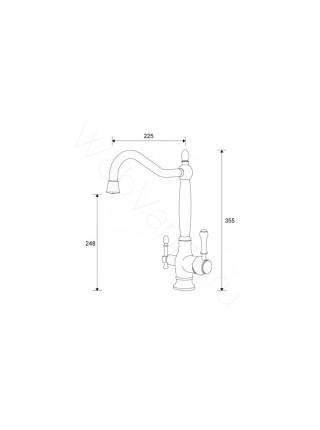 Смеситель для кухни Aksy Bagno TL-18050-bronze, с подключением к фильтру
