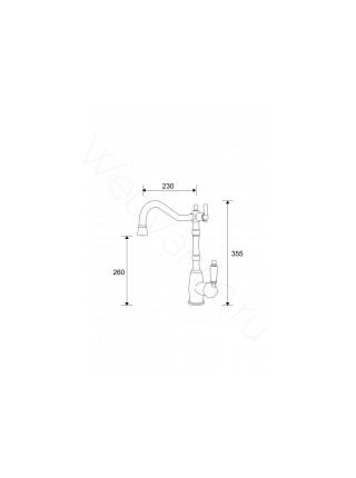 Смеситель для кухни Aksy Bagno TL-18083-bronze, с подключением к фильтру