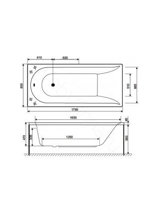 Акриловая ванна AM.PM Inspire 180х80