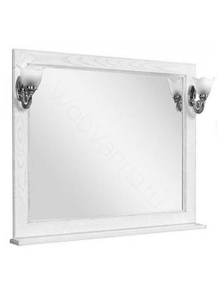 Зеркало Акватон Жерона 105 см, белое серебро