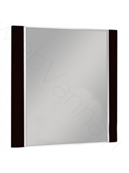 Зеркало Акватон Ария 80 см, чёрный глянец