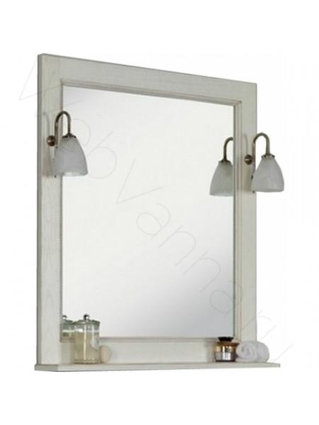 Зеркало Акватон Жерона 105 см, белое золото
