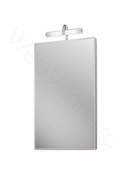 Зеркальный шкаф Aqwella Дельта 45 см, белый, с подсветкой