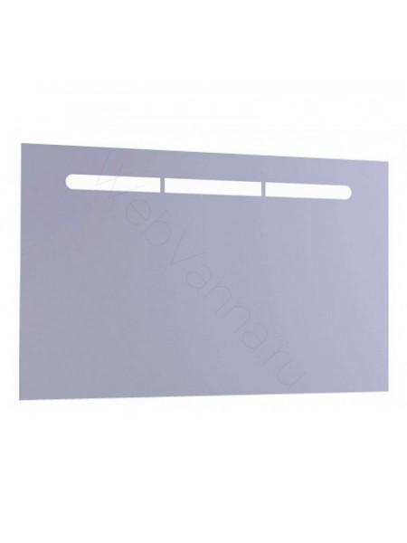 Зеркало Aqwella Европа 100 см, с подсветкой, белое