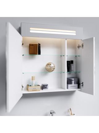 Зеркальный шкаф Aqwella Нео 70 см, белый, с подсветкой