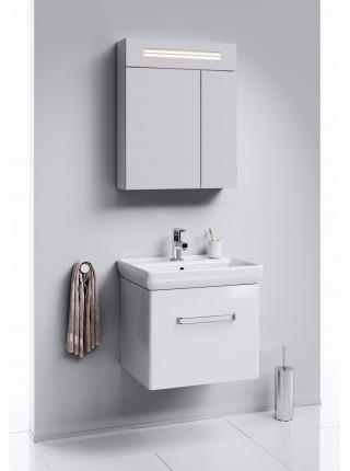 Зеркальный шкаф Aqwella Нео 60 см, белый, с подсветкой