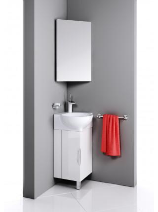 Зеркальный шкаф Aqwella Рио 45 см, белый, угловой