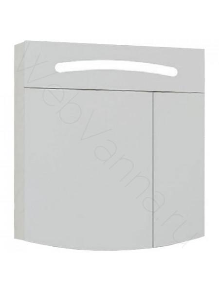 Зеркальный шкаф Aqwella Темпо 60 см, белый, с подсветкой