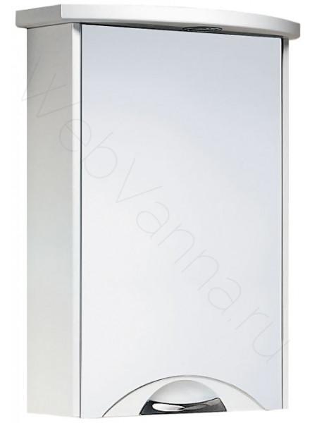 Зеркальный шкаф Aqwella Ультра Lux 55 см, белый, с подсветкой
