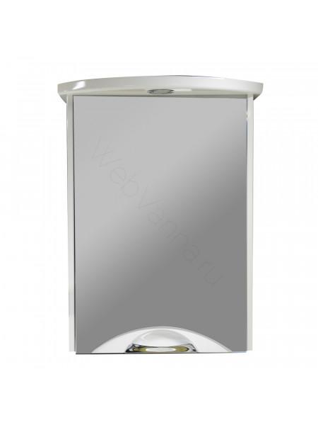 Зеркальный шкаф Aqwella Ультра Lux 65 см, белый, с подсветкой
