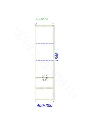 Пенал Aqwella Аликанте 40 см, дуб седой