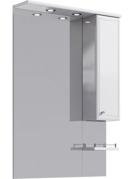 Зеркальный шкаф Aqwella Барселона Lux 65 см, белый, с подсветкой