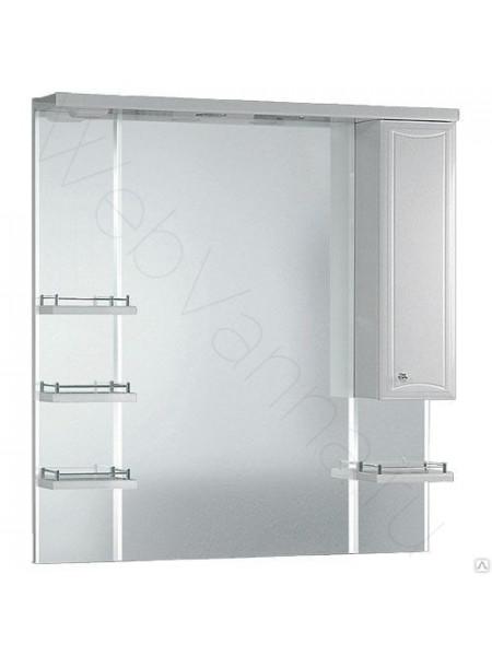 Зеркальный шкаф Aqwella Барселона Lux 105 см, белый, с подсветкой