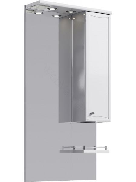 Зеркальный шкаф Aqwella Барселона 55 см, белый, с подсветкой