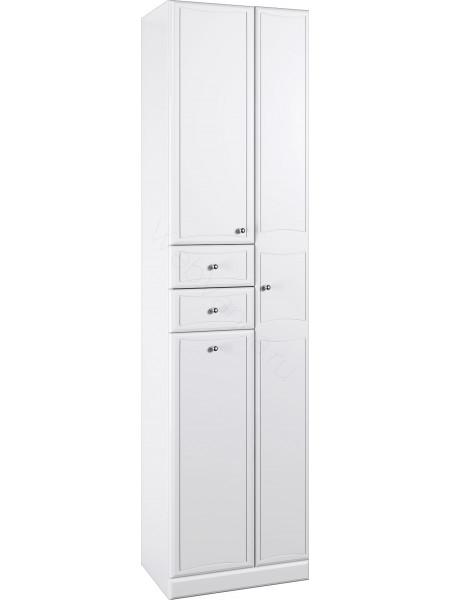 Пенал Aqwella Барселона П5/к, 50 см, белый, с корзиной П5/к