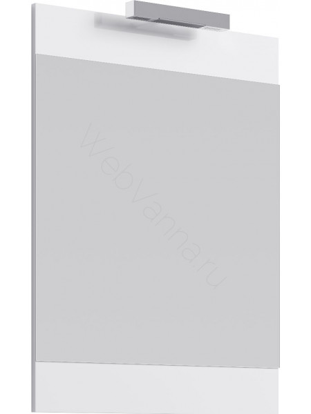 Зеркало Aqwella Бриг 60 см, с подсветкой, белое