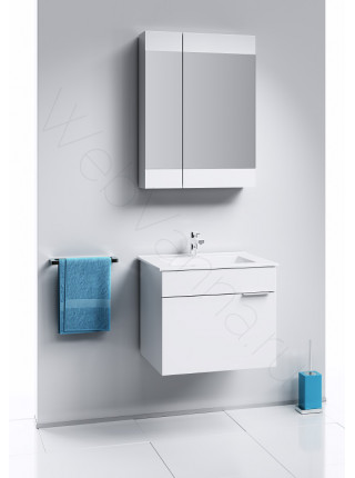 Зеркальный шкаф Aqwella Бриг 60 см, белый